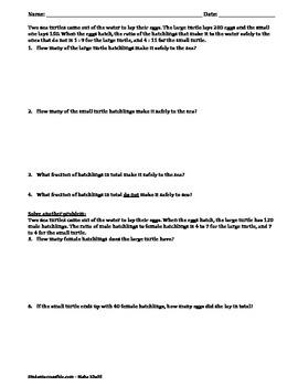 Proportions Word Problems Worksheet III