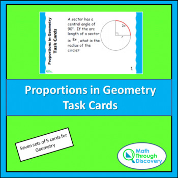 Proportions in Geometry Task Cards