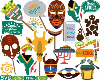Props Africa Safari Amazon clipart wilderness mask Booth P