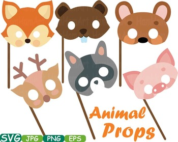 Props Forest Animals faces Woodland wood bear clip art ani