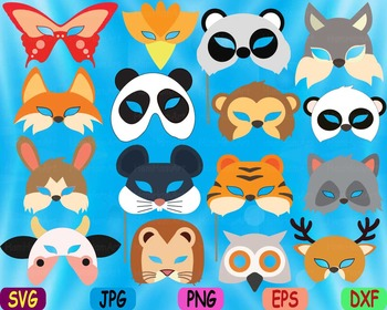 Props circus Animals Forest Safari woodland Clip art SVG d