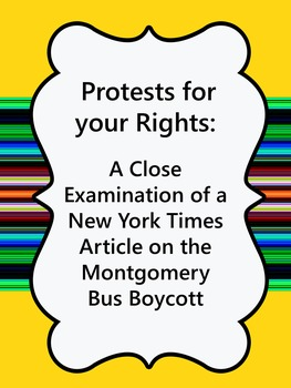 Protest for your Rights: Examine an Article about the Mont