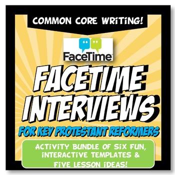 Protestant Reformation Activity FaceTime Interview Worksheet