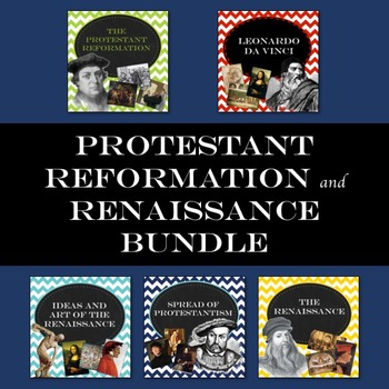 Protestant Reformation and Renaissance guided PowerPoint bundle