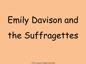 Protesting (the Suffragettes) Lesson plan, PowerPoint and