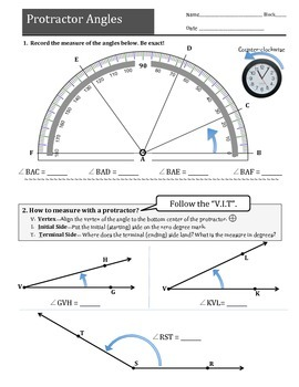 Protractor Angles! (An introduction to measureing angles w