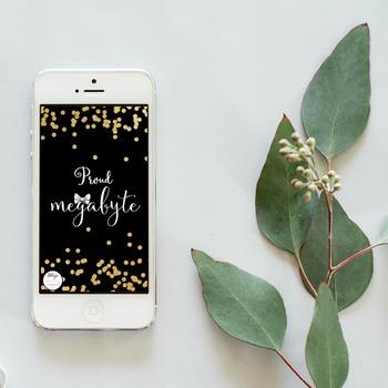 Proud Megabyte- Black Phone Background