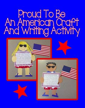 Proud To Be An American Craft and Writing Activity (4th of