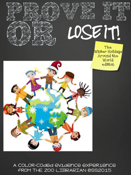 """Prove It Or Lose It! """"Holidays"""" BUNDLE finding evidence in text"""