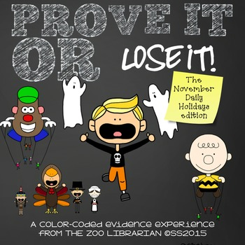Prove It Or Lose It! (November Daily Holidays) finding tex