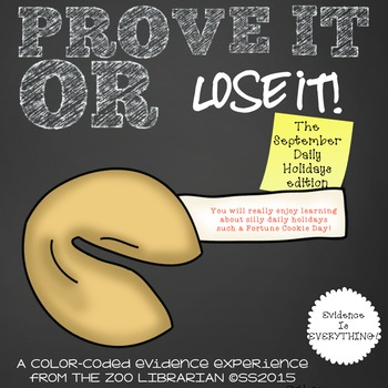 Prove It Or Lose It! (September Daily Holidays) finding te