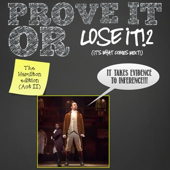 Prove It Or Lose It (The Hamilton Edition Act 2) finding t