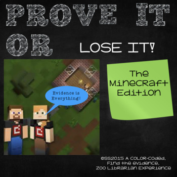 Prove It Or Lose It! (the Minecraft edition) finding text