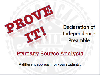 Decoration of Independence:  Prove It! Primary Source Anal