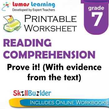 Prove It! Printable Worksheet, Grade 7