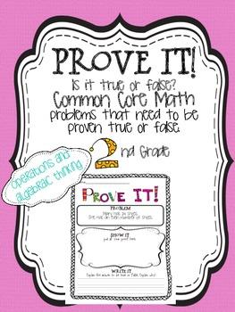 Prove it! {2nd grade Operations and Algebraic Thinking}
