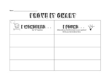 Prove it Chart : W questions & text evidence
