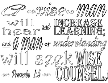 Proverbs 1:5 Coloring Page