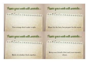 Proverbs Flash Cards