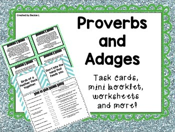 Proverbs and Adages