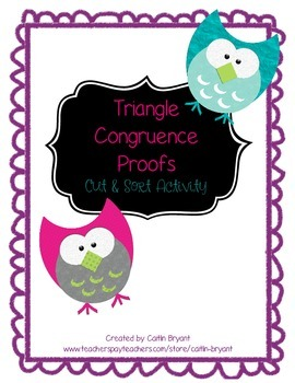 Proving Congruent Triangles- Cut and Sort Activity