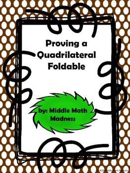 Proving Quadrilaterals