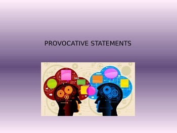 Provocative Statements Discussion - Chat Class