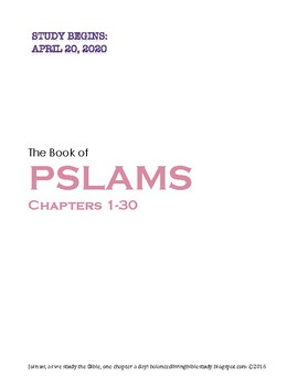 Pslams 1-30 WORD Guide