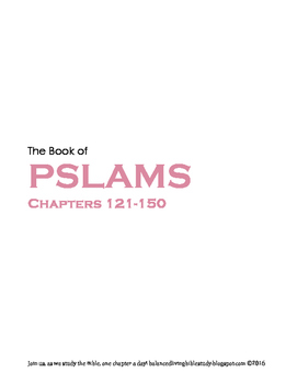 Pslams 121-150 WORD Guide