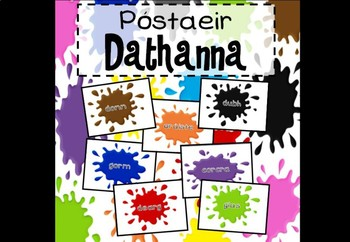 Póstaeir Dathanna (Colours posters as Gaeilge, in Irish)
