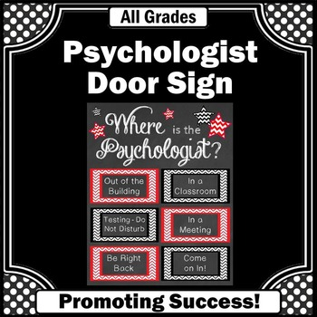 Where is the Psychologist Office Door Sign Gift Idea for A