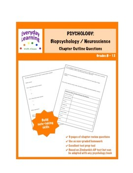 Psychology Chapter Outline Review Questions Biopsychology