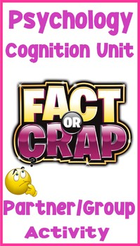 Psychology Cognition Fact or Crap Key Concept Worksheet As