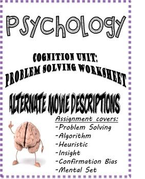 Psychology Cognition Problem Solving Alternate Movie Descr