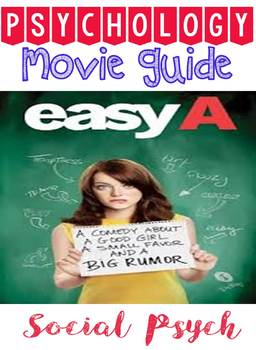 Psychology Easy A Movie Guide Note Graphic Organizer for S