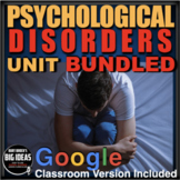 Psychology Disorders Unit - PPTs w/Video Links, Worksheets