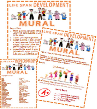 Psychology Life Span Development Mural Activity with Rubric