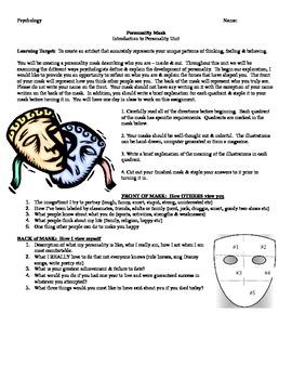 Psychology: Personality Mask