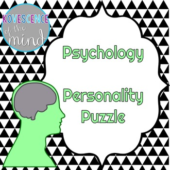 Psychology Personality Puzzle