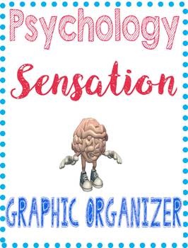 Psychology Sensation Unit Graphic Organizer for eye & ear