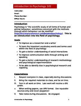 Psychology Syllabus (Doc)