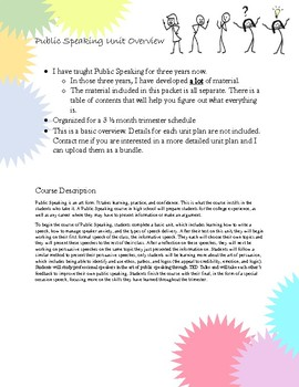 Public Speaking Course Outline