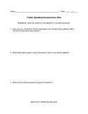 Public Speaking Introductions Quiz
