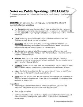 Public Speaking Notes