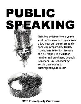 Public Speaking Syllabus