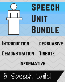Public Speaking Unit Bundle -- 5 Speech Units
