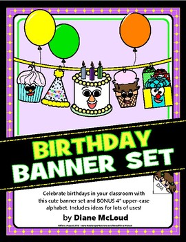 Pudgies™ Classroom Decor Helpers–Birthday Set