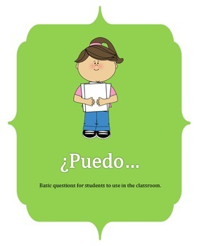 Puedo....question poster