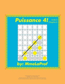 Puissance 4 Game: Beginner Level French: Unit 3: Chapter 6