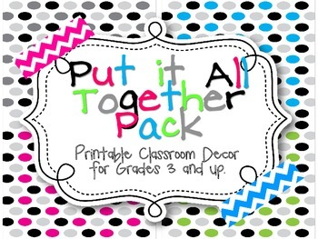 Pull it All Together! Classroom Decor - Neon Dots